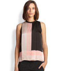 Halston Heritage Silk Scarf-Print Top - Lyst