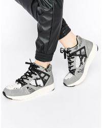 Blink - Snake Print High Top Trainers - Lyst