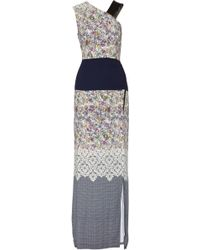 Yigal Azrouel Printed Silk Crepe Maxi Dress - Lyst