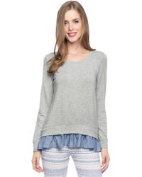 Splendid French Terry Ruffle Pullover - Lyst