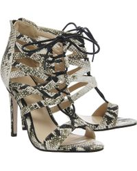 Office Popsicle Lace Strappy Heels animal - Lyst
