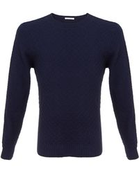 Gant Diamod Crewneck Sweater blue - Lyst
