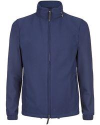 Giorgio Armani Honeycomb Bomber Jacket blue - Lyst