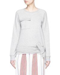 MSGM | Wrap Waist Patch Pocket Sweatshirt | Lyst