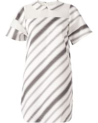 ANREALAGE - Striped Panelled Dress - Lyst