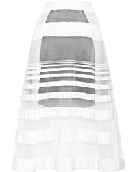 Tibi Striped Jacquard Gauze Skirt - Lyst