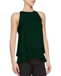 Theory Falice Layered-hem Sleeveless Top - Lyst