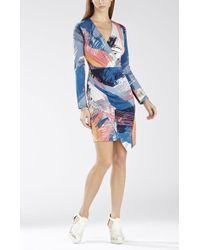 BCBGMAXAZRIA Blayr Asymmetrical Faux-Wrap Dress - Lyst
