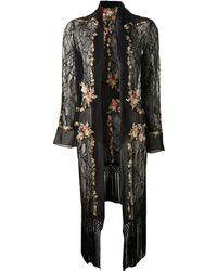 Haute Hippie Lace and Chiffon Cloak - Lyst