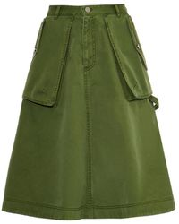 Marc By Marc Jacobs A-Line Cotton Skirt - Lyst