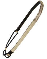 Cara | Double Band Head Wrap - Metallic | Lyst