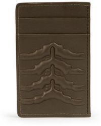Alexander McQueen   Embossed Leather Card Holder   Lyst