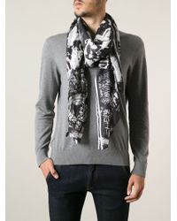 DSquared2 Printed Scarf - Lyst