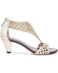 Donald J Pliner Open Toe Sandals - Verona Mid Heel - Lyst