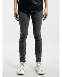 Topman Grey Willow Super Spray On Jeans - Lyst