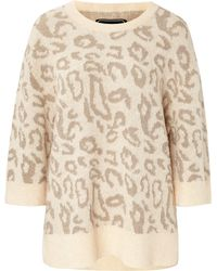 By Malene Birger Intarsia Knit Pullover - Lyst