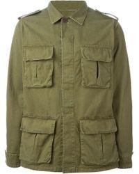 Saint Laurent Military Style Jacket - Lyst