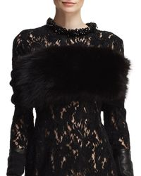 Lanvin Fox Fur and Knit Infinity Wrap - Lyst