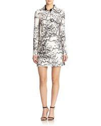 Diane von Furstenberg London Wool & Silk Printed Shirt Dress - Lyst
