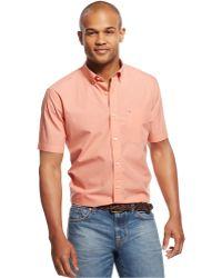 Tommy Hilfiger Short-Sleeve Maxwell Shirt pink - Lyst