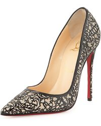 Christian Louboutin So Pretty Patent Glitter Red Sole Pump - Lyst