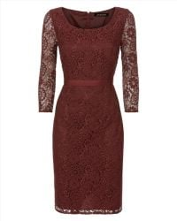 Jaeger - All Over Lace Dress - Lyst