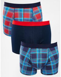 ASOS - 3 Pack With Plaid Print Save 20% - Lyst