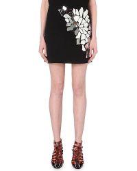 Loewe Mirrored-detail Mini Skirt - Black
