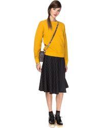 Pixie Market Emily Mustard Rib Knit Sweater - Lyst