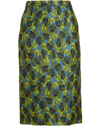 Antonio Berardi Palm Jacquard Pencil Skirt - Lyst