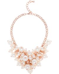 Ted Baker - Geminna Faux Pearl Cluster Necklace - Lyst