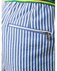 Mauro Grifoni - Striped Mini Shorts - Lyst