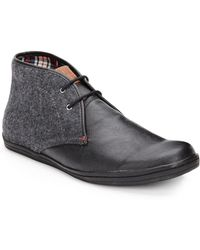 Ben Sherman Leather  Wool Low Boots - Lyst
