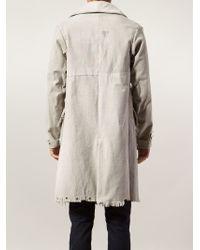 Greg Lauren - Distressed Cotton Coat - Lyst