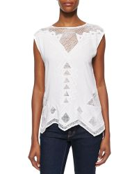 Golden by JPB - Paradise Netted Cotton Top - Lyst