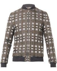 Balenciaga Domino-Embroidered Bomber Jacket - Lyst