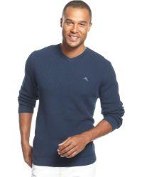 Tommy Bahama Ocean Ave V-Neck Sweater - Blue