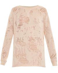 IRO Gareth Distressed Jersey Sweatshirt - Lyst