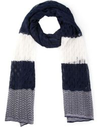 Missoni Crochet Knit Colour Block Scarf - Lyst