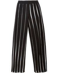 Arthur Arbesser - Sheer Stripe Wide Leg Trousers - Lyst