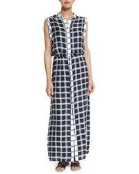 Townsen - Isidora Plaid Maxi Dress - Lyst