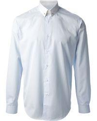 Mr Start | Contrast White Pin Shirt | Lyst