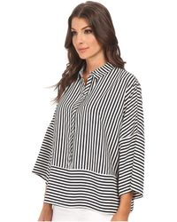 Adrianna Papell Oversized Drop Shoulder Blouse - Lyst