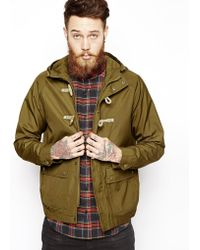 Asos Hooded Jacket with Duffle Fastening - Lyst