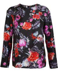 Giambattista Valli Floral Print Silk Shirt - Lyst
