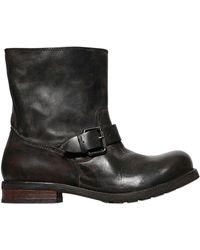 Diesel B-my Rock Leather Biker Boots - Lyst