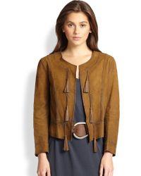 Ralph Lauren Blue Label | Leather Casmalia Jacket | Lyst