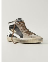 Golden Goose Deluxe Brand 'Slide' Hi-Top Sneakers - Lyst