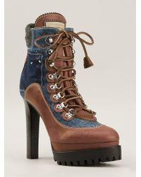 DSquared2 Denim Boots - Lyst