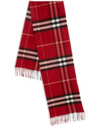 Burberry | Parade Red Giant Check Cashmere Scarf | Lyst